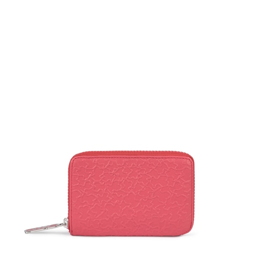 Small fuchsia leather Sira wallet