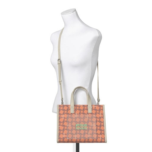 Medium Orange Amaya Logogram Shopping Bag
