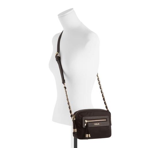 Black colored Canvas Brunock Chain Crossbody bag