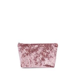 Bolsa pequeña Kaos Shock de Terciopelo rosa