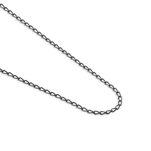 Cadena mediana TOUS Chain oval de plata dark silver