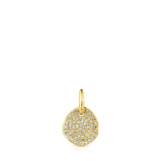 Colgante pequeño Nenufar de oro y diamantes