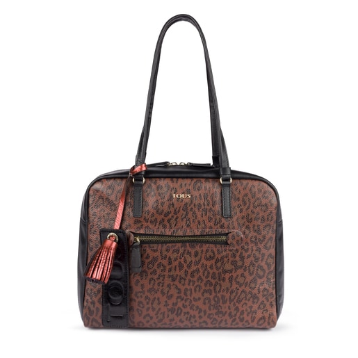 Terracotta leather Bridgy Exotic city bag