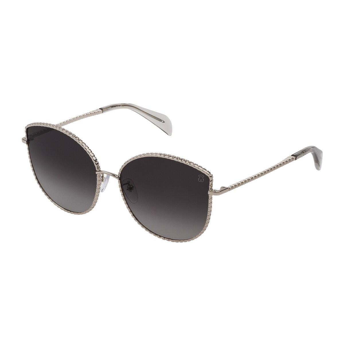 Silver colored Oso Straight Metal Sunglasses