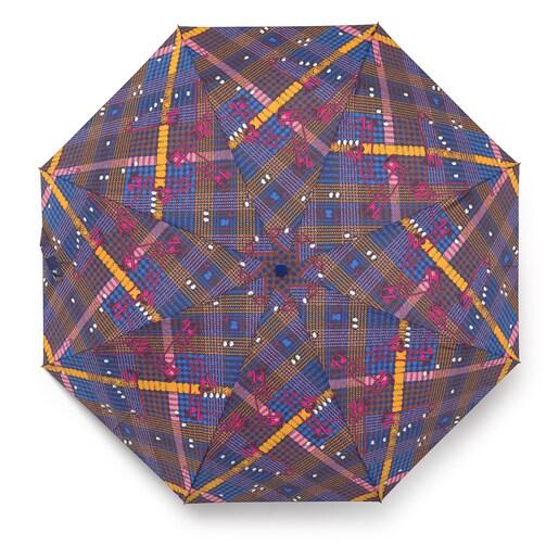 Parapluie pliable Tile Exene bleu