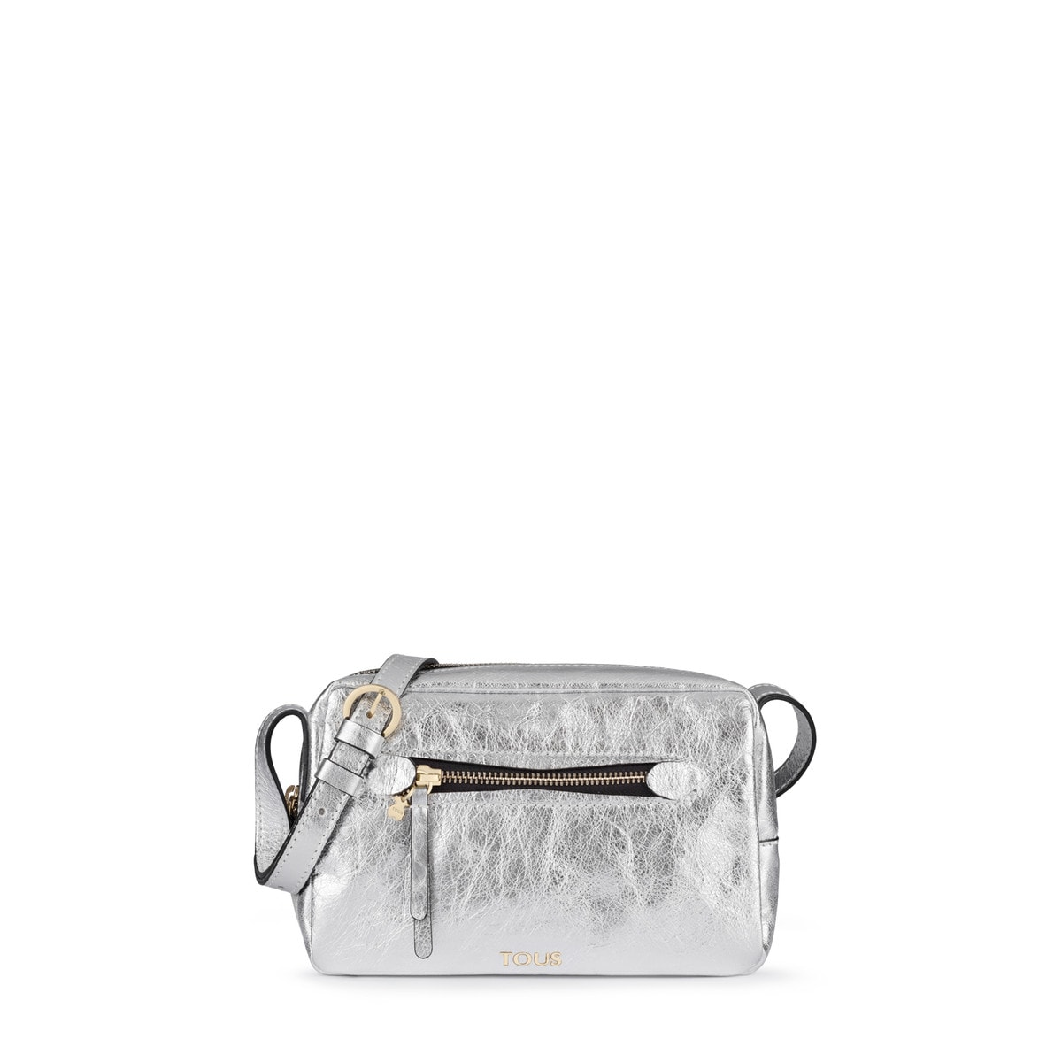 5c1920a3d Small silver colored Leather Tulia Crack Crossbody bag - Tous Site GB