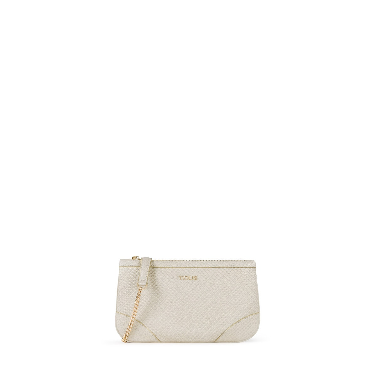 fbc2018ca Small gold colored Leather Yvonne Night Crossbody bag - Tous Site GB