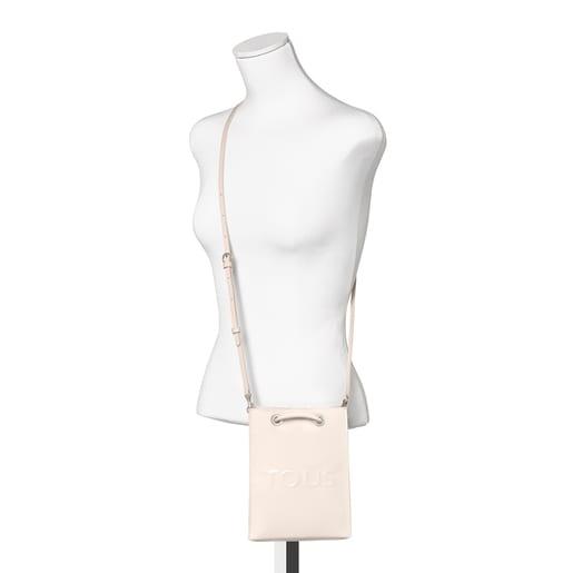 Mini bolsa bandolera Dorp blanco y negro
