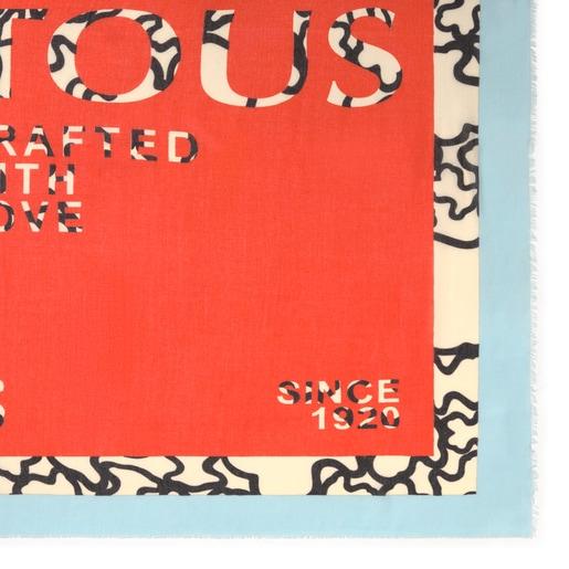 Orange Kaos Tous Crafted Foulard