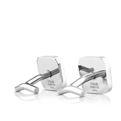 Stainless Steel TOUS Man Cufflinks with carbon filter