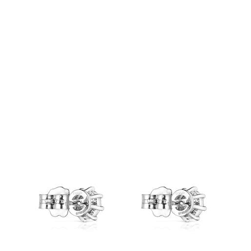 Pendientes de oro blanco y diamantes 0,21ct. Les Classiques