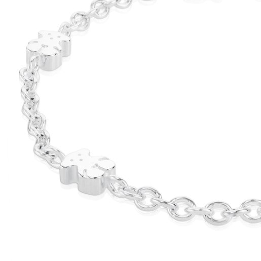 Silver TOUS Sweet Dolls Bracelet with Bear motifs