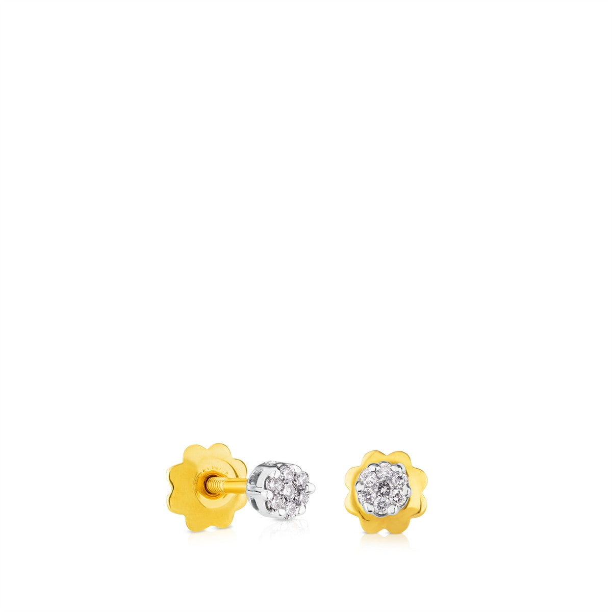 Gold TOUS Diamonds Earrings