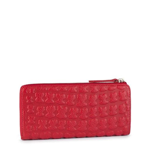 Mittelgroße Geldbörse Sherton aus Leder in Rot