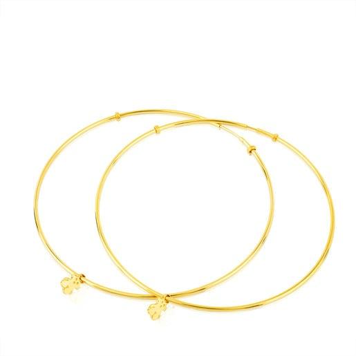 Pendientes aro TOUS Bear en oro amarillo