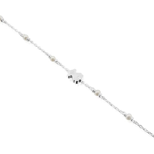 Pulsera Super Power de Plata con Perlas