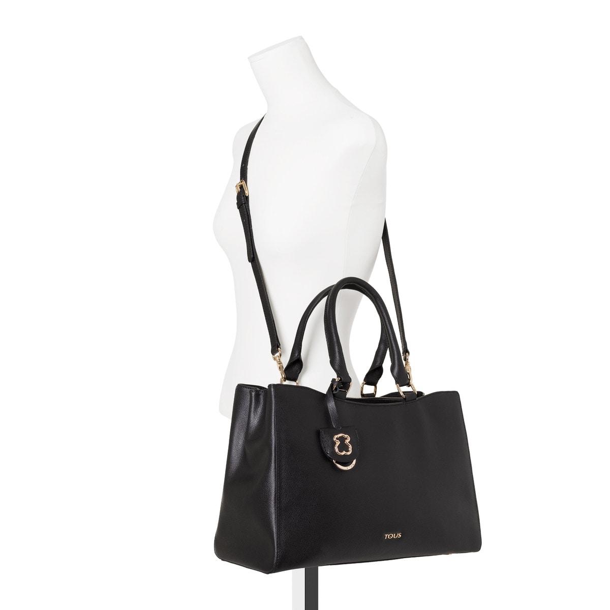 9f0057c70ab Μεσαίου μεγέθους τσάντα City Odalis από Δέρμα σε μαύρο χρώμα - Tous ...