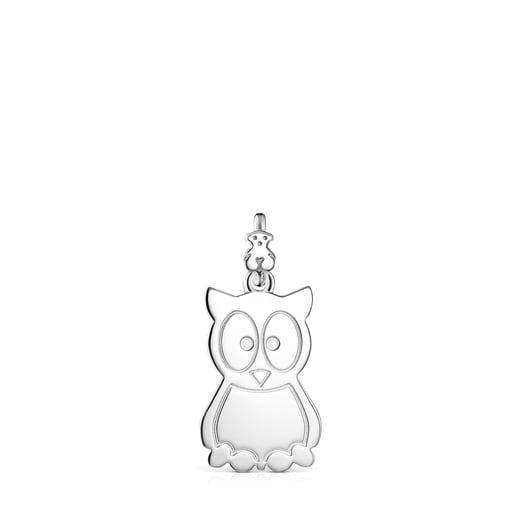 Silver TOUS Good Vibes owl Pendant