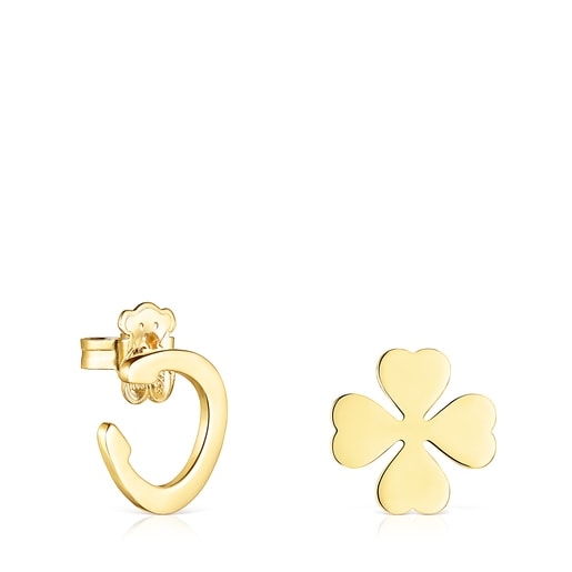 Silver Vermeil TOUS Good Vibes clover – horseshoe Earrings