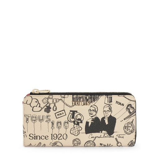 Medium beige and black TOUS Centenary wallet