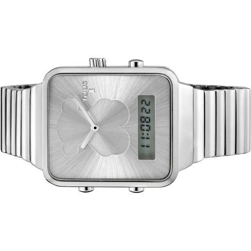 Reloj digital I-Bear de acero
