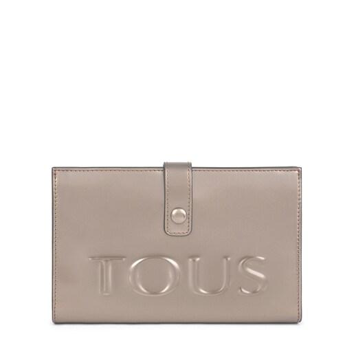 Medium gray and fuchsia New Dorp Wallet