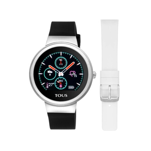 Steel Rond Touch activity Watch with interchangeable Silicone strap