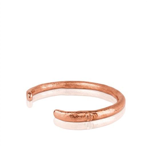 Βραχιόλι Duna Tube από ροζ ασήμι vermeil