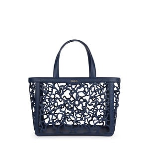 Medium navy blue Kaos Shock Tote bag