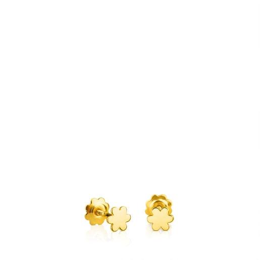 Σκουλαρίκια TOUS Basics από χρυσό