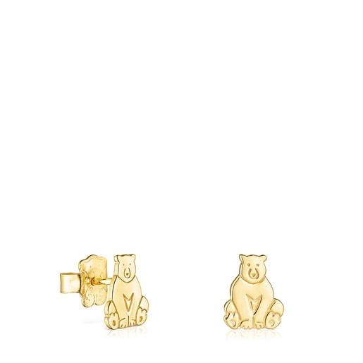 Brincos Save urso em Prata Vermeil