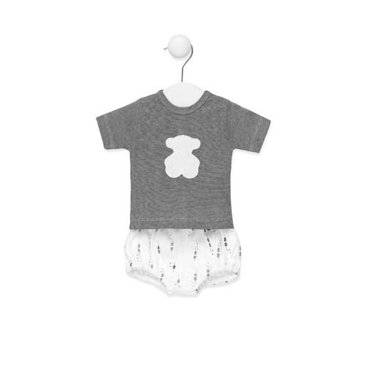 Conjunto de camiseta y pololo Luminary Blanco