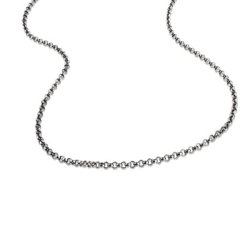 Corrente comprida TOUS Chain em Prata oxidada