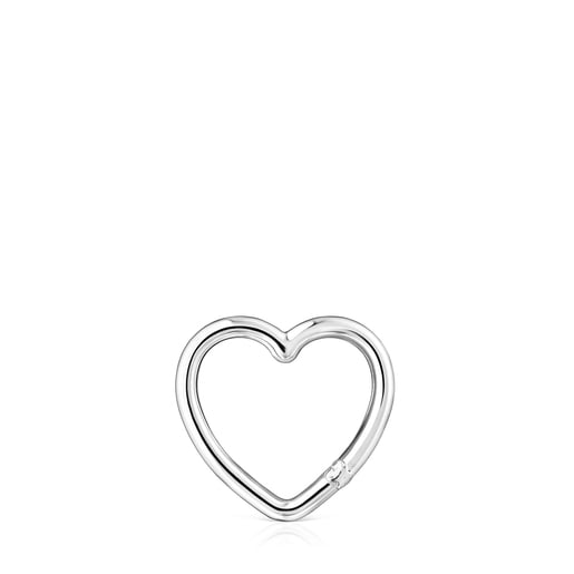 Medium Silver Hold heart Ring
