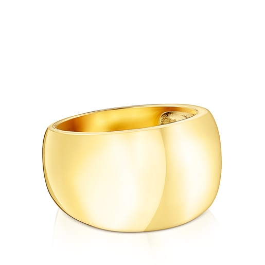 Silver Vermeil TOUS Basics Domed ring