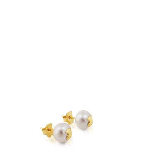 Brincos TOUS Pearls em Ouro