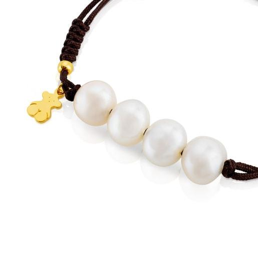 Pulsera TOUS Nudos de Plata Vermeil y perlas