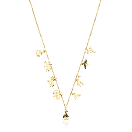 Silver Vermeil Save Necklace and Gemstones