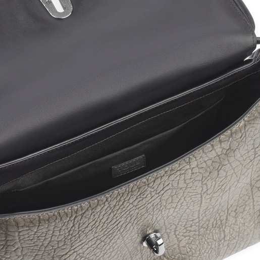 Medium leather silver Bridgy crossbody bag