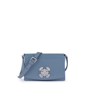 Small blue Leather Rossie Crossbody bag