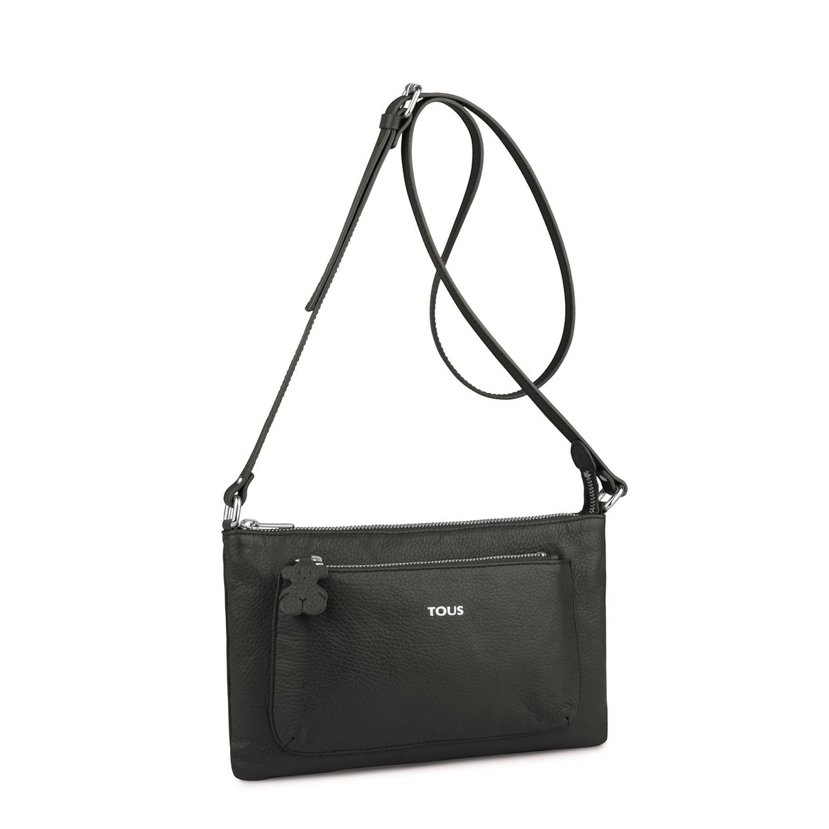 Black colored Leather Chaplin Crossbody bag