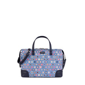 Blue Canvas Mossaic Tie Bowling bag