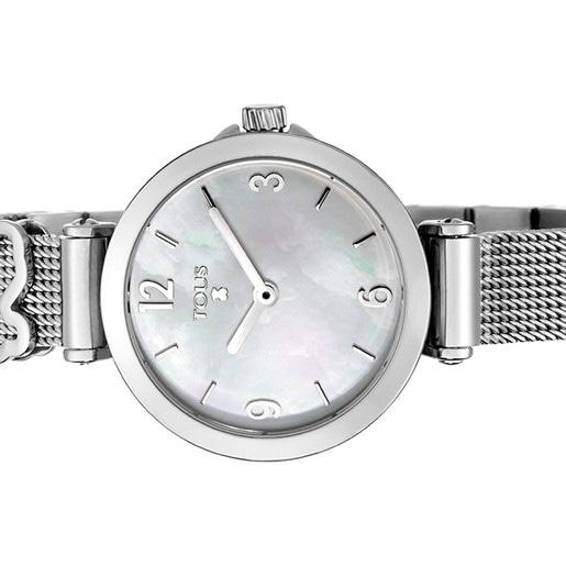 Reloj Icon Charms de acero con nácar