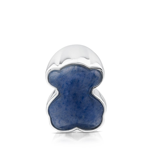 Silver New Color Ring with Dumortierite