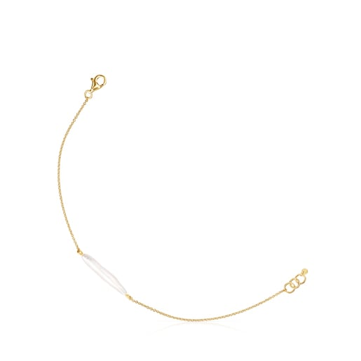 Gold Luz Bracelet with Pearl