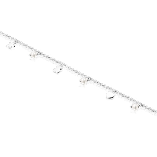 Silver and Pearls Cool Joy Anklet