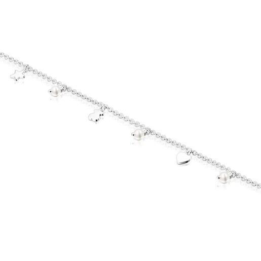 Tobillera Cool Joy de Plata y Perlas