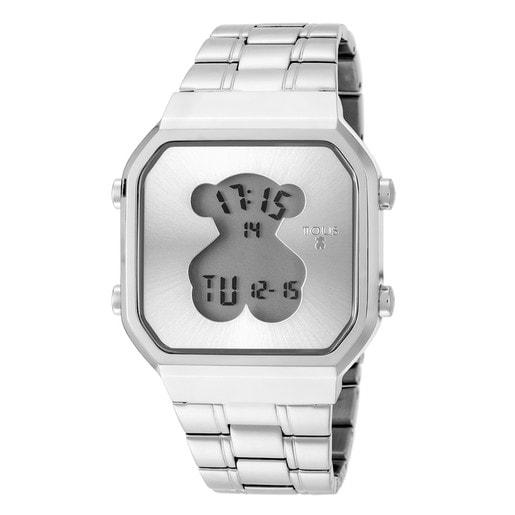 Uhr D-Bear SQ aus Stahl