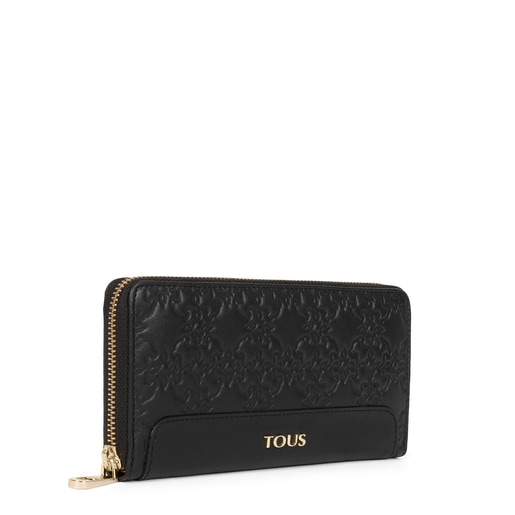 Large black colored Leather Mossaic Wallet