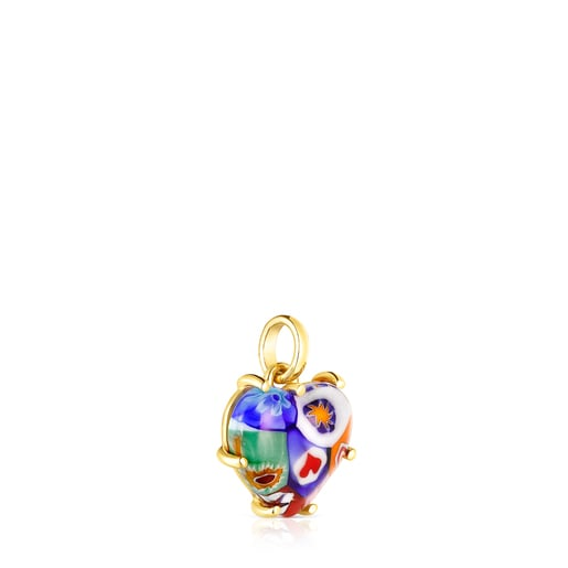 Penjoll cor cristall de murano Sant Valentí